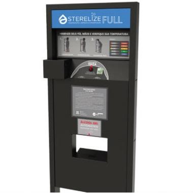 Medidor de temperatura e álcool gel automatizado